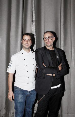 El chef Manuel Berganza y el diseñador Roberto Diz