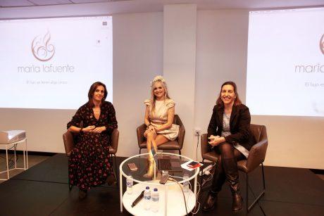 De izquierda a derecha, Isabel López-Rivadulla, María Lafuente y Ana Belén Santos.